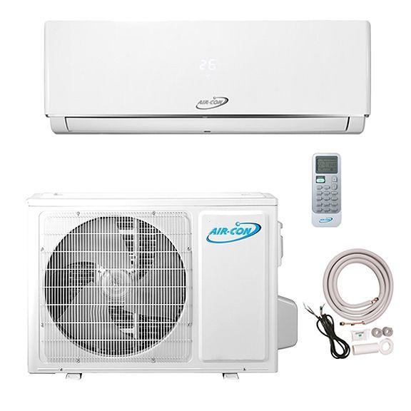 9 000 Btu Aircon Serene Series Ductless Mini Split Air Conditioner Heat Pump 16 Seer 3 4 Ton 220v Payless Mini Split